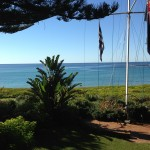 View out to the sea at Kims Beach Hideaway
