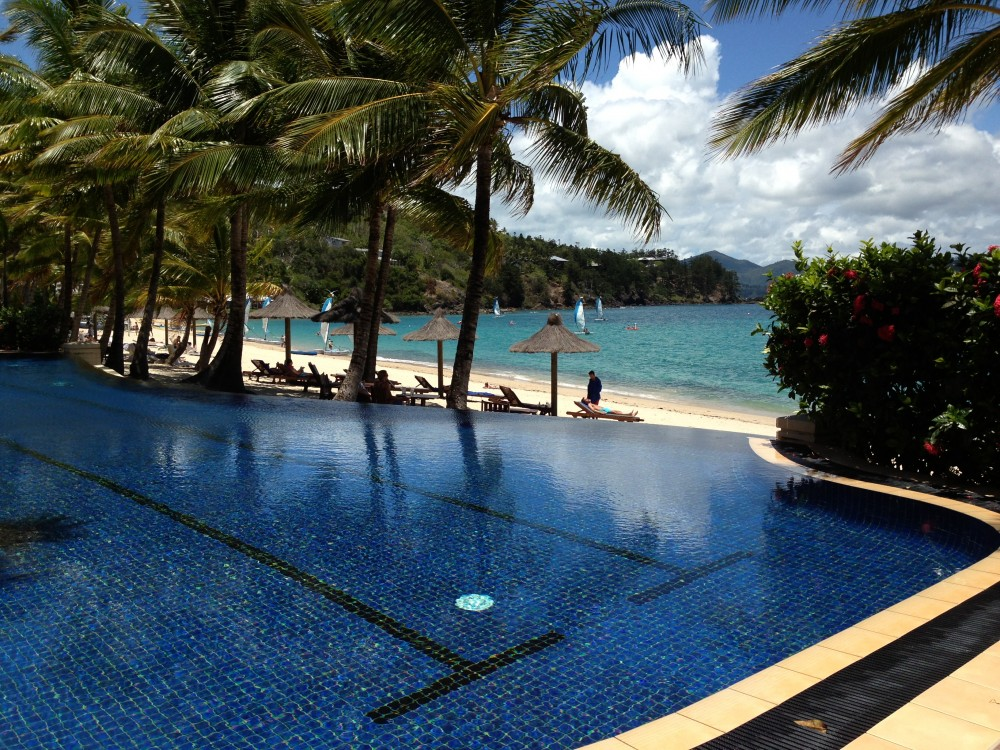 Infinity Pool by the sea at The Beach Club Hamilton Island