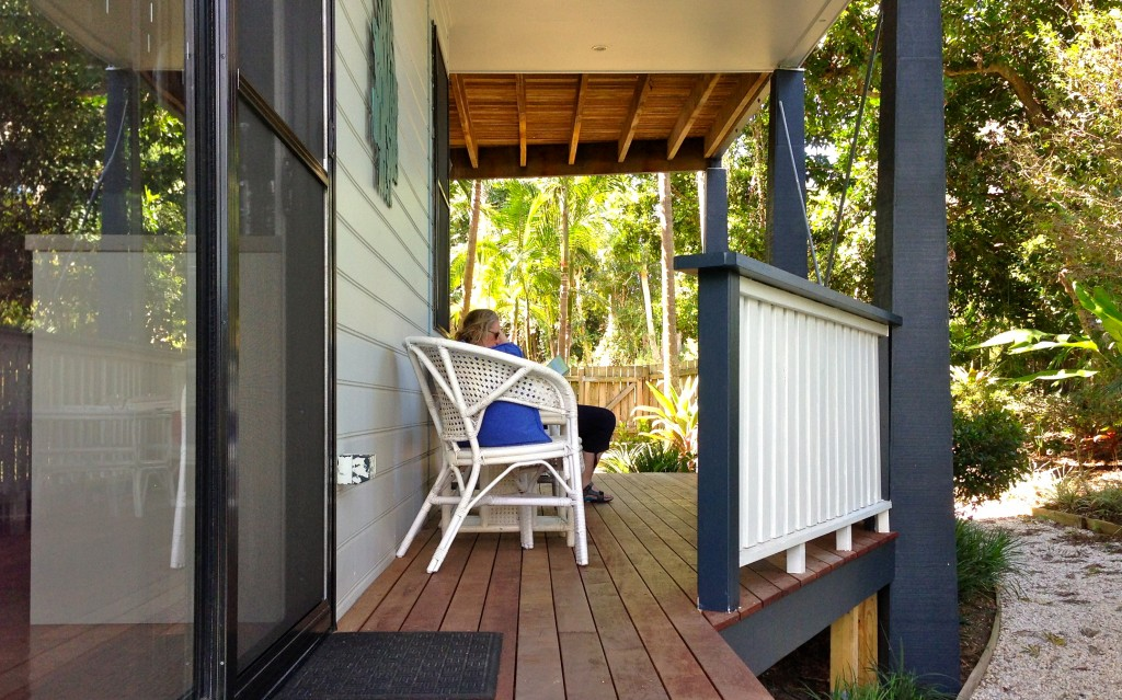 Relaxing at Cavvanbah Beach House, Byron Bay