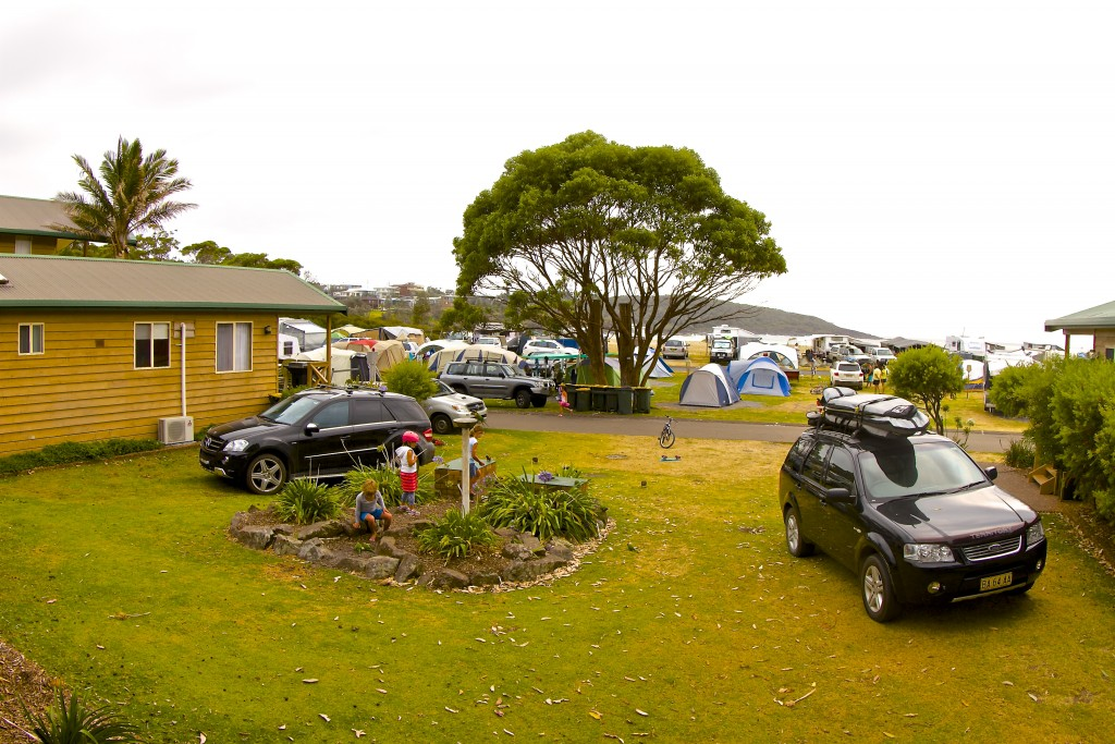 Merry Beach Caravan resort, NSW, Australia.