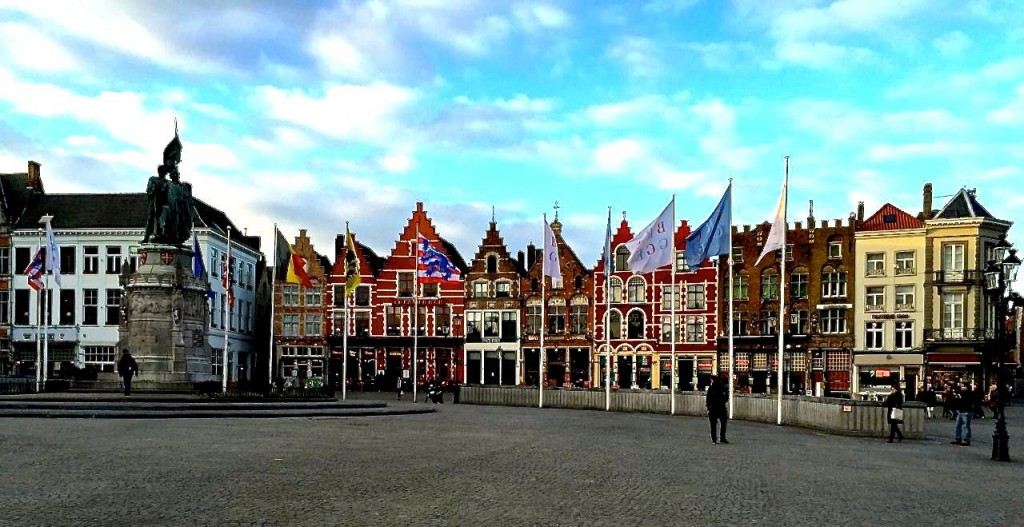 The main square, Bruges, Belgium.