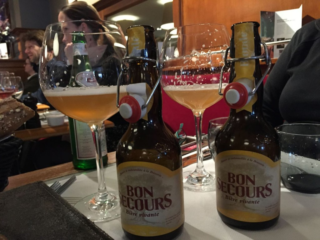 Enjoying a refreshing Belgium Beer, Bruges, Belgium.