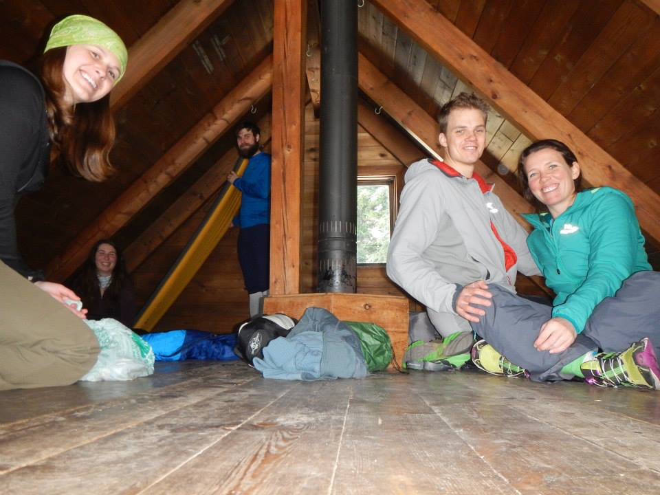 The Upper level sleeping area of Keiths Hut, Squamish Canada.