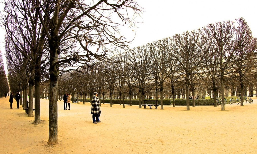 Palais Royal Courtyard, Paris, France.