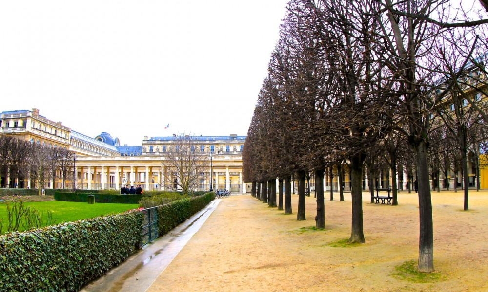 Winter Garden, Palais Royale, Paris, France.