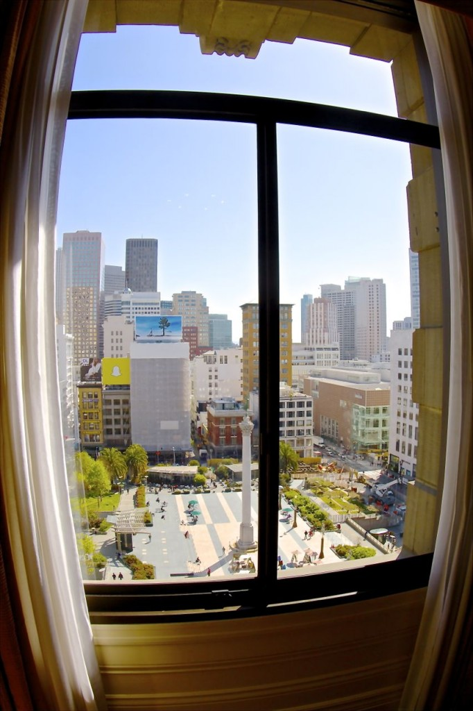 View from The Westin, Union Square, San Francisco, California, USA.