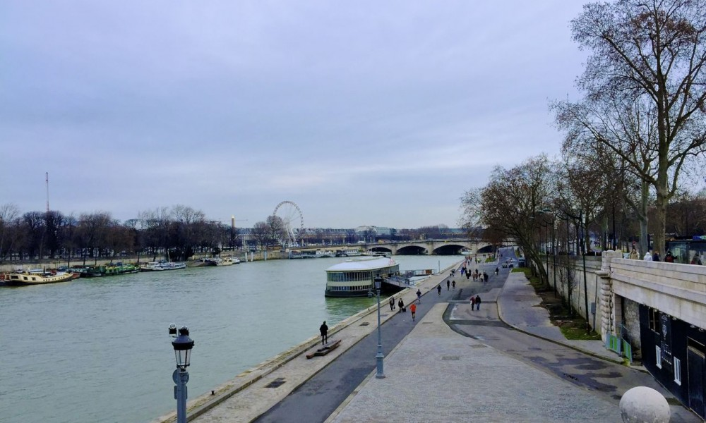 View of the Seine, Paris, France.