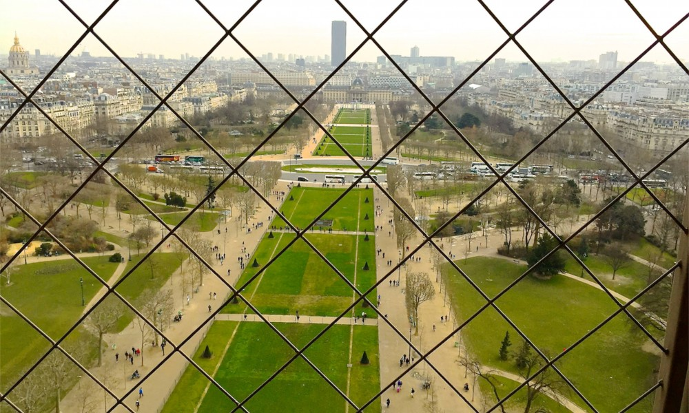 View from the Eiffel Tower, Paris, France.