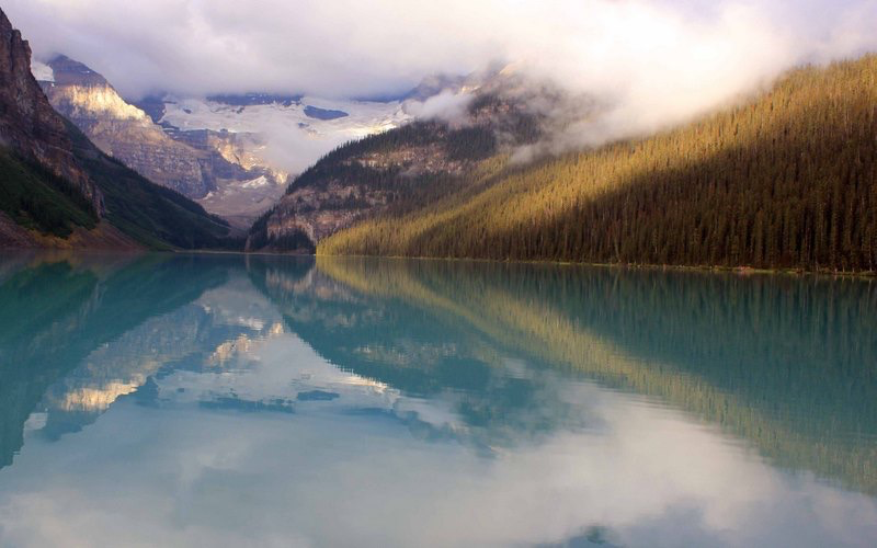 Lake Louise reflections, Lake Louise, Canada.