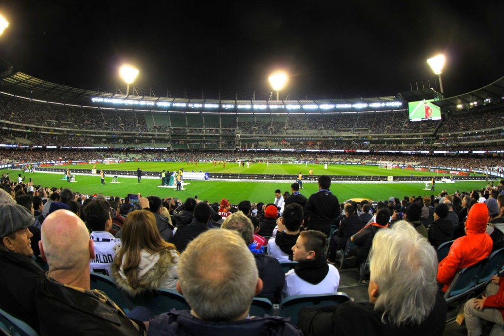 Real Football at The MCG! Melbourne, Australia.