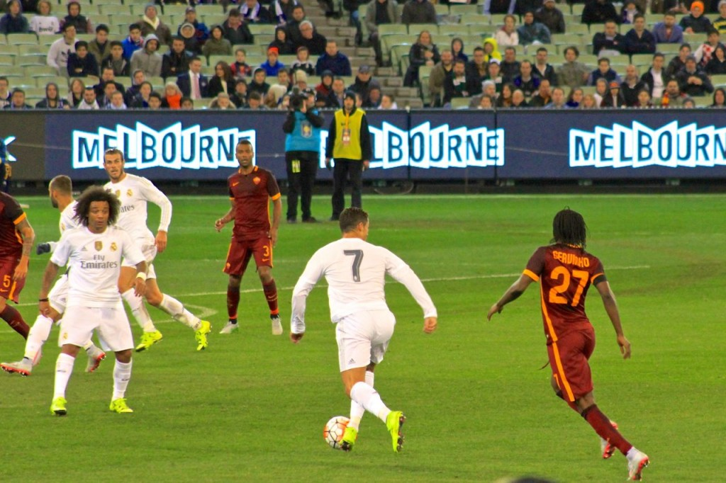 Christiano Ronaldo in action for Real Madrid, MCG, Melbourne, Vic Australia.