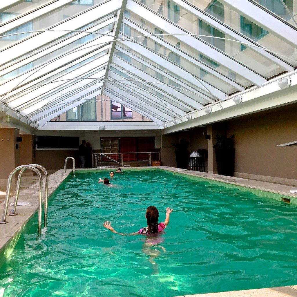 Fun in the pool at The Langham, Melbourne, Vic, Australia.