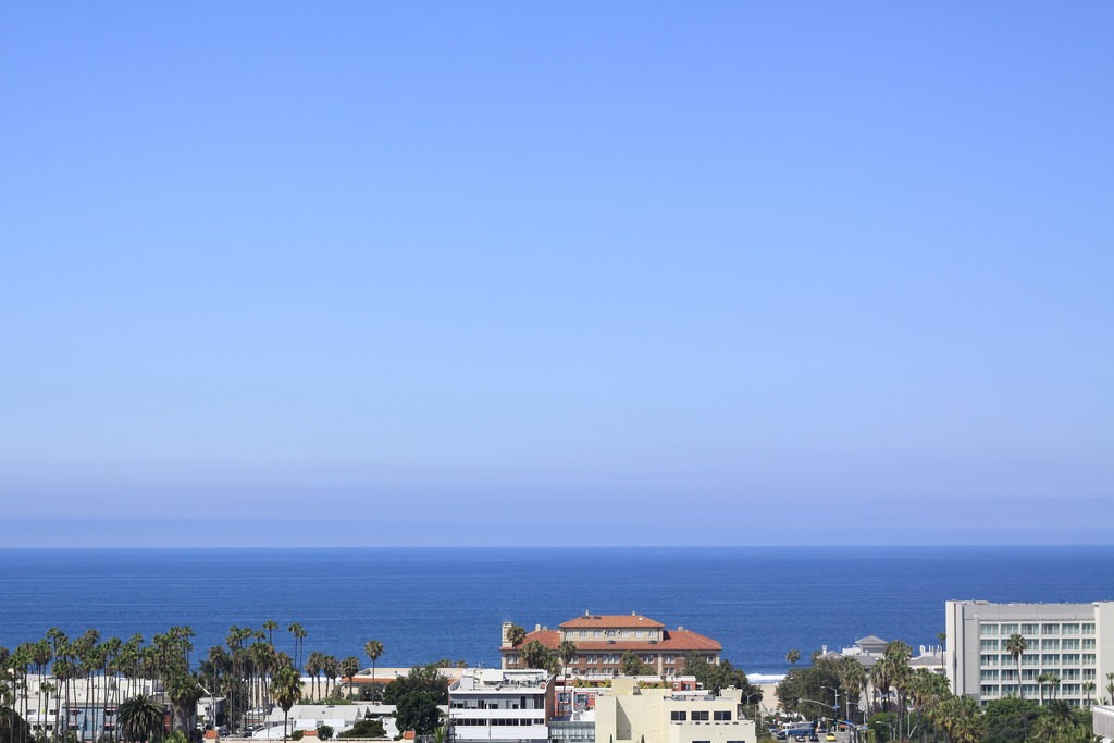 The view of Santa Monica from Le Méridian Delfina in Los Angeles, California, USA.