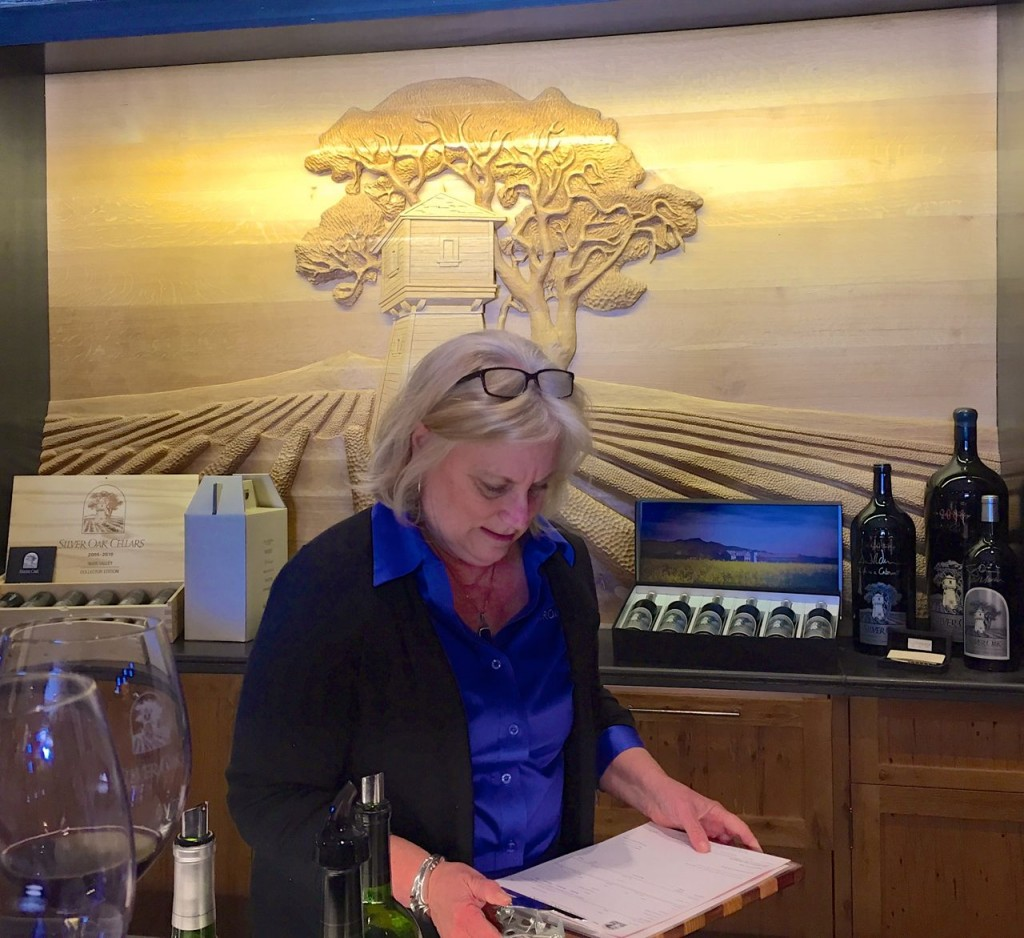 Our guide, Silver Oak Tasting Room, Napa, California, USA.