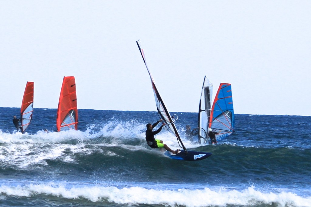 Awesome fun Windsurfing at Gerroa, NSW, Australia